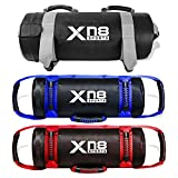 Xn8 Power Bag Weighted Training Sandbag-Adjustable Weight Fitness Powerbag With Handles and Zipper for Weight Lifting-Powerlifting-Exercise-Running (Blue, 10kg)