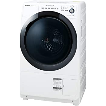 シャープ ドラム式 洗濯乾燥機 ヒーターセンサー乾燥 右開き(ヒンジ右) 洗濯7kg/乾燥3.5kg ホワイト系 幅640mm 奥行600mm DDインバーター搭載 2019年モデル ES-S7D-WR