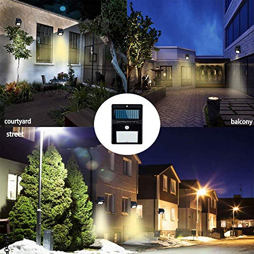 MroTech Solar Lights Outdoor Wireless 20 LED Solar Motion Sensor Lights Waterproof Security Wall Lighting Outside for Front Door, Backyard, Steps, Garage, Garden