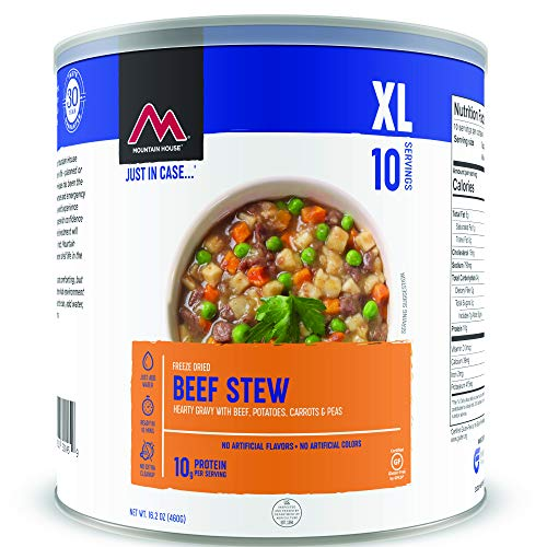 Mountain House Beef Stew | Freeze Dried Survival & Emergency Food | #10 Can | Gluten-Free
