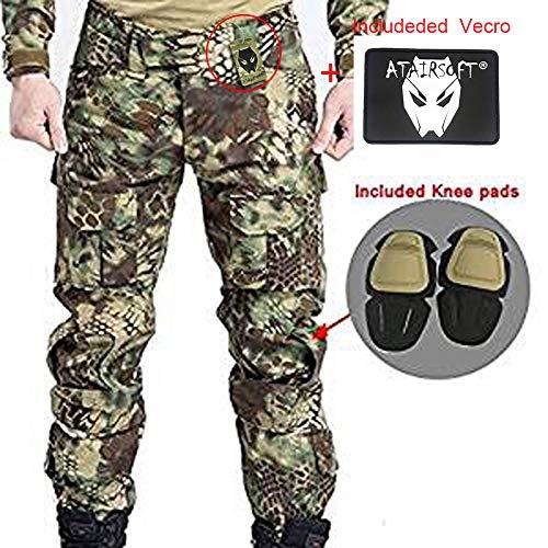 Worldshopping4U Pantaloni da combattimento da uomo, con ginocchiere, tattici, militari, softair, paintball, mr, L
