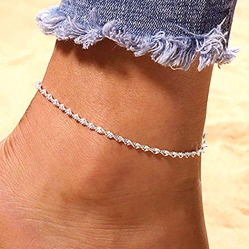 Zoestar Boho Anklet Silver Beach Ankle Chain Bling Ankle Bracelets Foot...