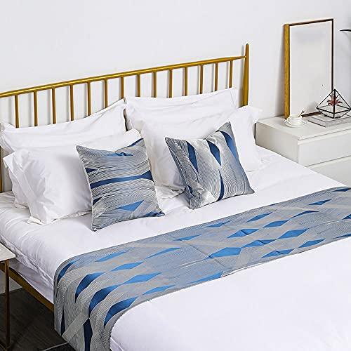 AZMYSYS Corredor De Cama Corredores De Cama Bufanda Colcha Protección Cama Bandera Hotel Ropa De Cama Lujosa Dormitorio Bufanda Decorativa Fundas De Cojín,50 * 210cm for 1.5m