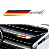 iJDMTOY Aluminum Plate Germany Flag Emblem Badge Compatible With Germany Car Front Grille, Side Fenders, Trunk, Dashboard Steering Wheel, etc