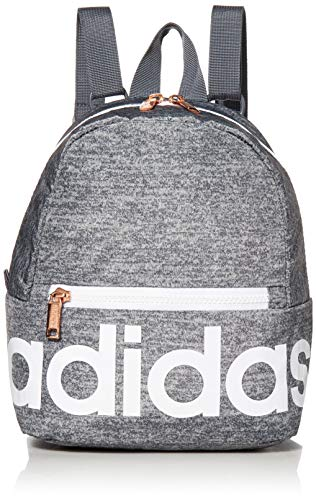 adidas Linear Mini Backpack, Jersey Onix/White/Rose Gold, One Size