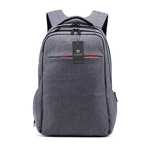 YAAGLE Wasserdicht Laptoptasche Freizeit Rucksack Damen und Herren Unisex Reisetasche Gepäck Schüler Schultasche 15 Zoll Schultertasche-deep Grey