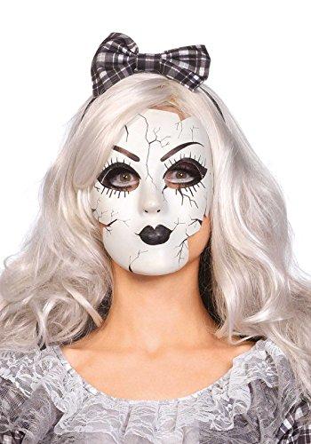 Leg Avenue Women's Doll Mask, White, One Size