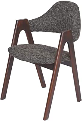 Dall Dining Chair Modern Simple Solid Wood Armchair Leisure Adult Computer Desk Chair Home Convenient (Color : T5, Size : Walnut Color)