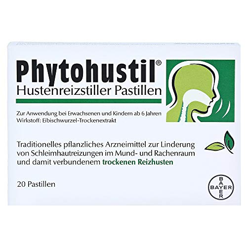 Die 20er-Packung der Phytohustil Hustenreizstiller Pastillen, die zuckerfrei pflanzliche Soforthilfe bei Reizhusten, die optimal Lösung auch für unterwegs