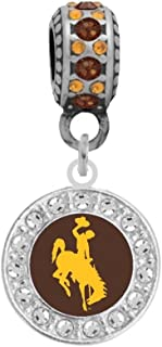 Wyoming Charm Bracelet Wyoming Bead Charm State of Wyoming Wyoming Charm fits European and Brand Bracelets Wyoming Dangle Charm