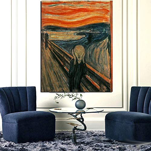 Frameloze schilderij Woonkamer decoratie schreeuwen klassiek abstract olieverfschilderij op canvas poster en printZGQ3568 50X70cm