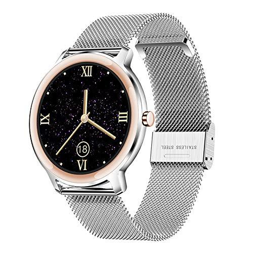 DOOK Smartwatch para Mujer, Reloj Inteligente Impermeable IP67, Pulsera De Actividad Inteligente con Monitor De Sueño Contador De Caloría Pulsómetros Podómetro para Android iOS Silver