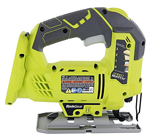 Product Image 2: Ryobi One+ P523 18V Lithium Ion Cordless Orbital T Shank 3,000 SPM Jigsaw (Battery Not Included, Power Tool and T Shank Wood Cutting Blade Only)