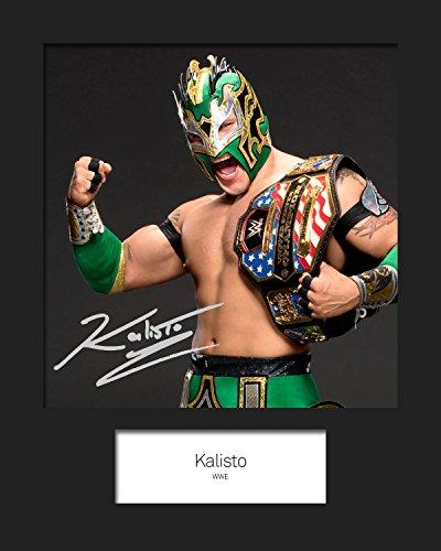 FRAME SMART KALISTO WWE | Signierter Fotodruck | 10x8 Größe passt 10x8 Zoll Rahmen | Maschinenschnitt | Fotoanzeige | Geschenk Sammlerstück
