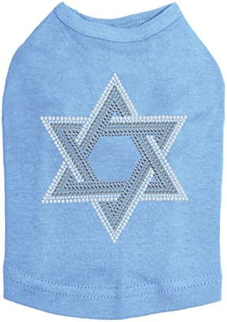 Shipping Max 68% OFF included Star of David Gray and Clear Dog Rhinestone Bling Hanukkah - S