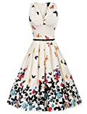 Best Vintage Dresses - 50's Vintage Pin-up Dresses Fit and Flare Sleeveless Review