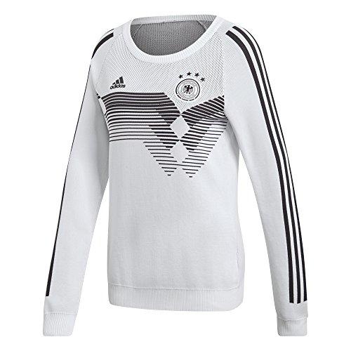 adidas DFB H SWT K W T-Shirt 1. Trikot aus der Deutschen Fußballnationalmannschaft, Damen, Weiß