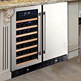 N'FINITY PRO HDX by Wine Enthusiast Wine & Beverage Center – Holds 90 Cans & 35 Wine Bottles –...