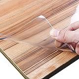 XtraCare Tischdecke Transparent Tischfolie durchsichtige Tischdecke Glasklar Schutzfolie PVC Tisch Schutzfolie Abwaschbar Folie (90 x 140 cm, Höhe 1.5MM) - 5
