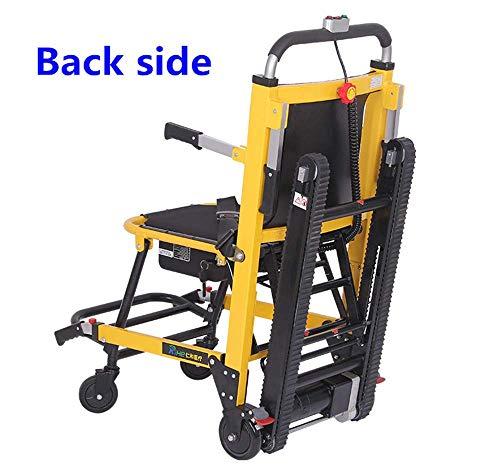 DLY Älterer Untauglicher Faltender Elektrischer Rollstuhl-Aluminiumlegierungs-Leichter Faltender Energie-Elektrischer Treppensteiger-Rollstuhl für die Untauglichen, Älteren Personen, Rot, Gelb