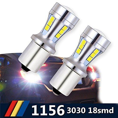 Bombillas LED BA15S 1156, luces LED de luz blanca para automóviles, 6000K 18-SMD lámpara de señales, luces de freno y marcha atrás, luces diurnas, etc.(2piezas de paquete))