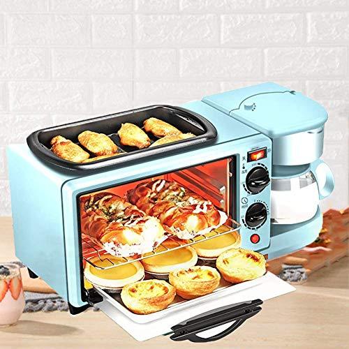 LXTIN 3 in1 Brotbackmaschine, Multi-Funktions Frühstück Maschine Toaster Kaffee-Tee-Topf Teppanyaki Ofen Brot Toaster Back Maker Bratpfanne Pizza Herd