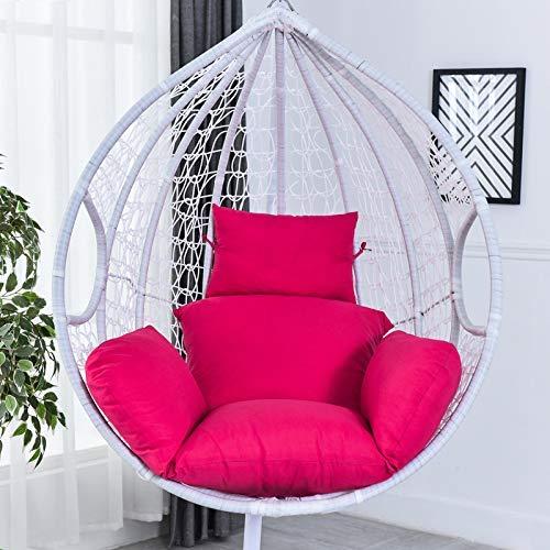 Ei hangstoel kussen dikke schommel stoel kussen dikke nest terug met kussen voor binnen buiten Patio Yard tuin grijs (geen stoel)