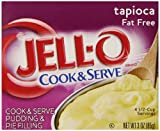 JELL-O Fat Free Tapioca Pudding & Pie Filling Mix (3 oz Boxes, Pack of 6)