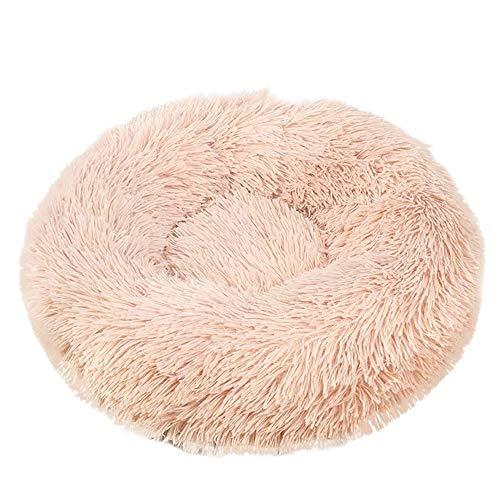 Cesta para Mascotas de Felpa 5 Colores Diferentes y 8 tamaños - Lavable y Resistente a los arañazos casa para los Perros y Gatos (Style 5, 40CM)