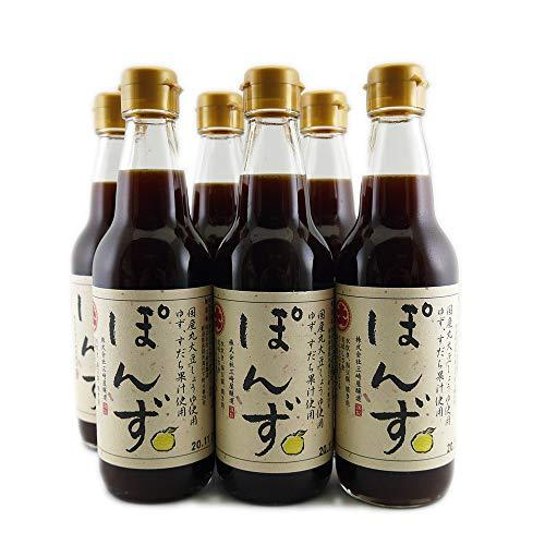ぽんず 360ml×6本 国産丸大豆しょうゆ ゆず・すだち果汁使用 三崎屋醸造