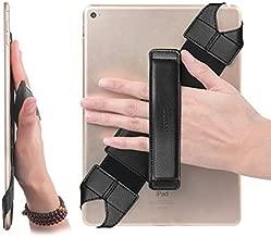 joylink Universal Tablet Hand Strap Holder, 360 Degrees Swivel Leather Handle Grip with Elastic Belt, Secure & Portable for 10.1