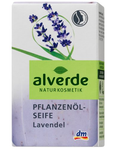 Alverde Pflanzenöl-Seife Lavendel, 3er Pack (3 x 100 ml)