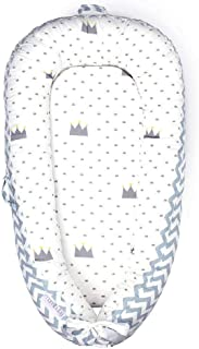 Mamibaby Baby Lounger Baby Nest 100% Soft Breathable Cotton Newborn Lounger Perfect for Co Sleeping,Portable Crib Baby Bed Bassinet Snuggle Bed for Travel,Suitable for 0-12 Months Infant