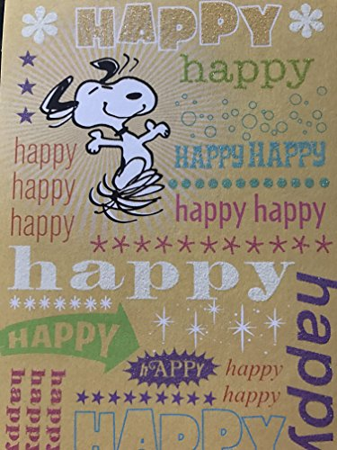 SNOOPY PEANUTS HAPPY HAPPY HAPPY HAPPY BIRTHDAY CARD