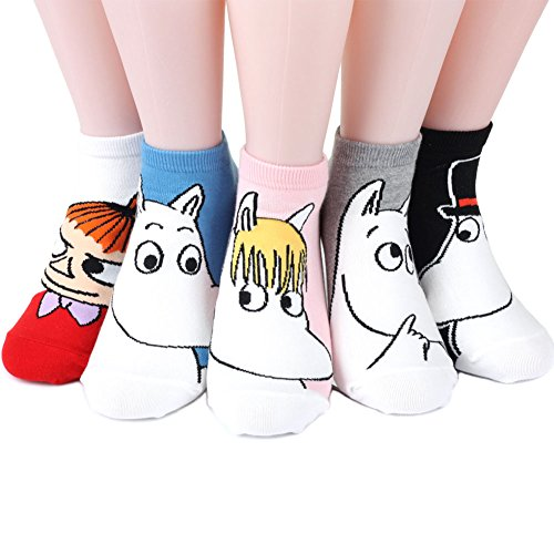 Moomin Women's Socks 5 pairs Made in Korea - Stand out