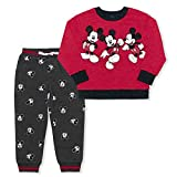 Disney Boy's 2-Piece Mickey Mouse The One and Only Pullover and Jogger Pant Set, Grey/Red, Size 6