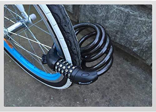 WYJW Accesorios de Bicicleta sólida Candado de Bicicleta de montaña Contraseña antirrobo Candado de Cable de Acero Candado de Bicicleta Candado de Cadena Durable