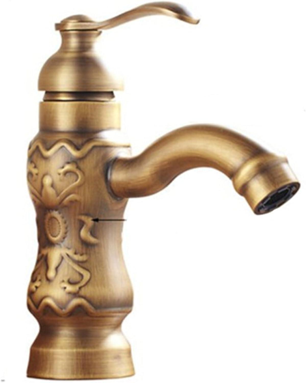 Xiaowenwen European faucet pure copper plated single hole faucet???bathroom counter basin faucet