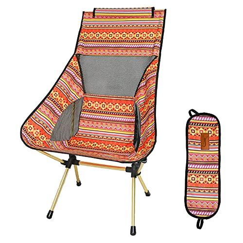 DesertFox アウトドアチェア 折りたたみ 超軽量【ハイバック】【耐荷重150kg】コンパクト イス 椅子 収納袋付属 お釣り 登山 携帯便利 キャンプ椅子 0018