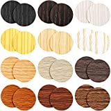 648 Pieces Screw Hole Covers Stickers 12 Sheets Furniture Hole Cover Caps Stickers 12 Colors Wood Textured Adhesive Waterproof Wood Grain Stickers for Wall Cabinets Desk Screws (Mixed Color)