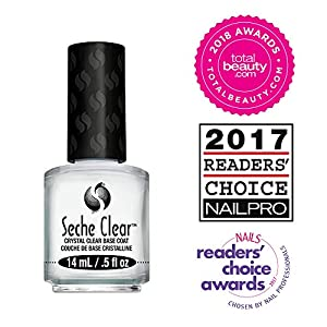 Seche Clear, Base Coat Nail Polish for Manicure and Pedicure, Boxed, 2 Pack