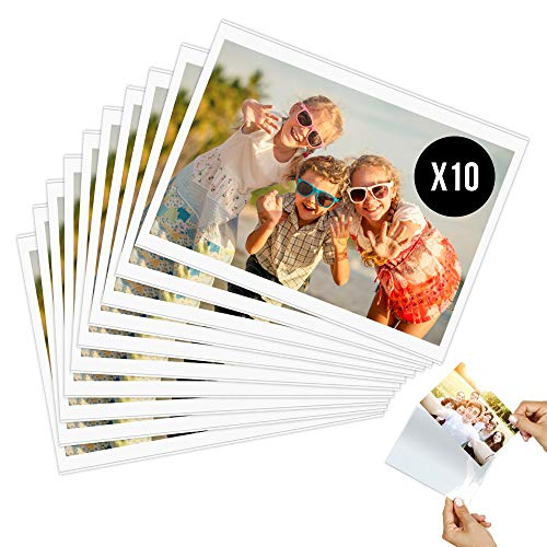 Calamita Portafoto Magnetico Frigorifero 10 x 15 cm (10 pz) con Magnete Molto Potente - Cornice decorazione porta foto con tasca trasparente per foto di famiglia e bambini, scuola (formato A6)