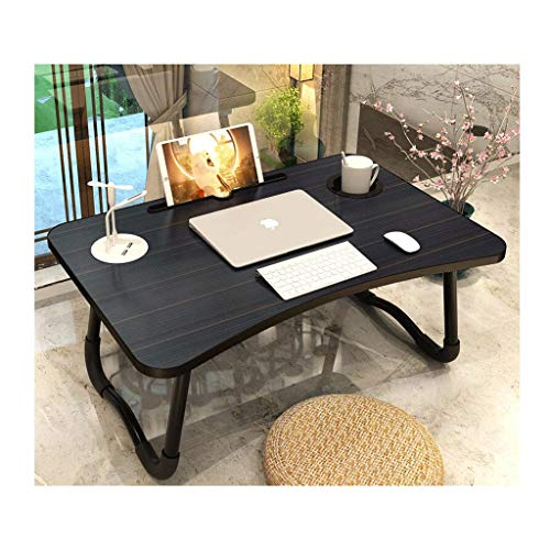 Laptop-schrijftafel, vouwbaar, tafel, zitting, tafel, bureau, bed, eenvoudig bureau, laptop, bureau met lamp, usb-kleine ventilator, slaapkamer, studentenbureau, laptop