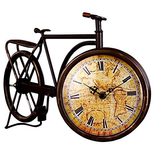 WANGXINQUAN Reloj europeo de hierro forjado para bicicleta, movimiento de hierro, reloj de jardín