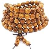 ChicJ&Y Pulsera Mala de los 8MM 108 Rezo, Collar de Meditación de Buda Budista...