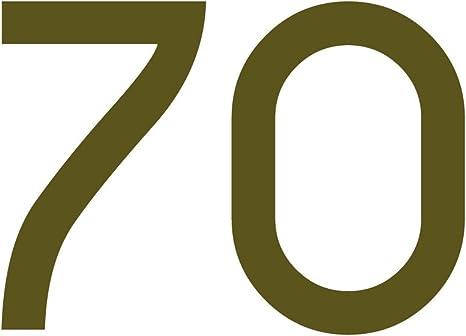 Zahlenaufkleber Nummer 70 Gold 10cm 100mm Hoch Aufkleber Mit Zahlen In Vielen Farben Höhen Wetterfest Küche Haushalt