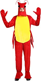 EraSpooky Adult`s Lobster Halloween Costume Men Sea Animal Onesie Pajama Mascot Women