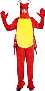 EraSpooky Adult's Lobster Halloween Costume Men Sea Animal Onesie Pajama Mascot Women