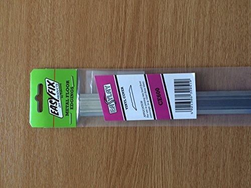 Easyfix Silver Vinyl Cover edge-CE600-25mm breed x 895mm lang- gebruikt om de verbinding te bedekken tussen twee harde vloerbedekkingen, zoals vinyl of vloertegels.