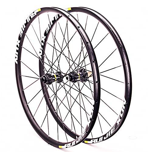 RUJIXU MTB Rueda Bicicleta 26' 27.5' 29' Doble Pared de Rueda Rueda De Bicicleta Eje Pasante Freno Disco 8-11 Velocidad Aleación de Aluminio hub Rodamientos Sellados (Size : 26inch)